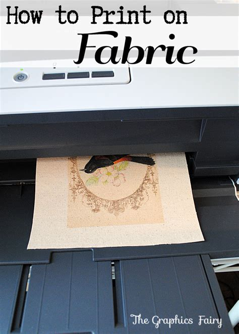 how to print images on fabric how to print on fabric freezer paper method the graphics fairy