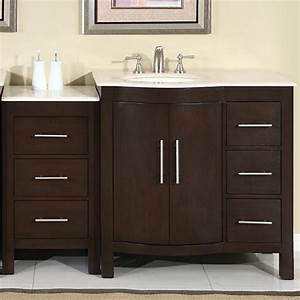 silkroad 53 inch modular traditional bathroom vanity With 53 inch bathroom vanity
