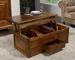Table Basse Coffre Bar : table basse bar paul en merisier de style louis philippe meuble en merisier massif ~ Teatrodelosmanantiales.com Idées de Décoration