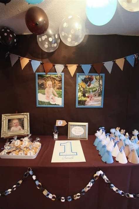 And Blue Birthday Decorations - kara s ideas blue and brown boy s 1st birthday