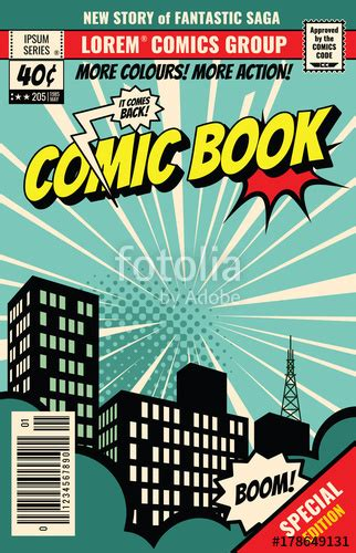 comic book cover template quot retro magazine cover vintage comic book vector template quot stock image and royalty free vector