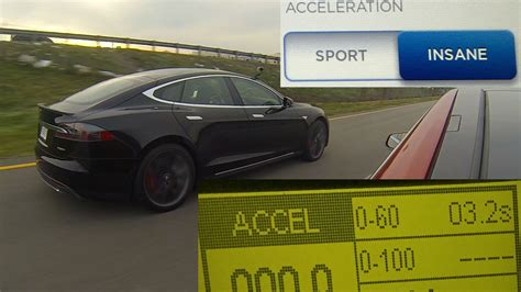 Tesla Model S P85d Insane Vs Sport Mode 060 Mph Testing