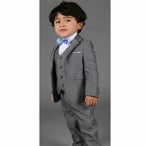 Costume 3 Pièces Gris : costume c r monie b b gar on 3 pi ces les petits mecs r f diva gris ~ Dallasstarsshop.com Idées de Décoration