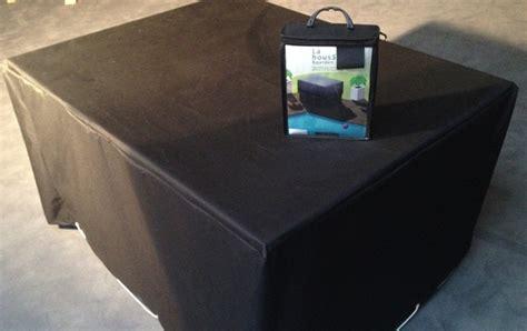 housse de protection carre pour table de jardin modulo 4 places