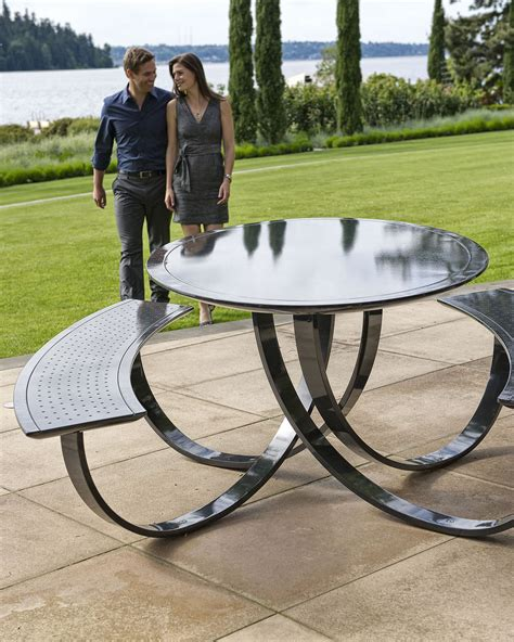 vintage metal picnic tables decor home ideas collection exterior metal picnic tables and
