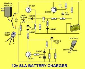Circuits Apmilifier  12 V Sla Battery Charger Circuit With