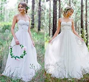 discount 2017 cheap country wedding dresses a line chiffon With cheap country wedding dresses
