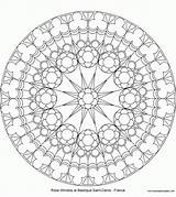 Rose Window Coloring Pages Saint Windows Denis North Mandala Mandalas Adult Stained Glass Printable Church Drawing Adults Template Sheets Compass sketch template