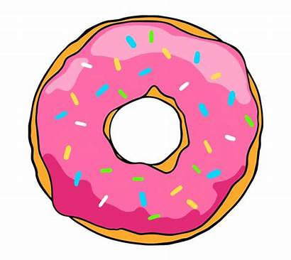 Donut Background Simpsons Transparent Clipground Cliparts