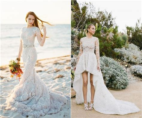 top 20 beach wedding dresses with gorgeous details deer pearl flowers