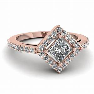square halo diamond discounted engagement ring in 14k rose With rose diamond wedding ring