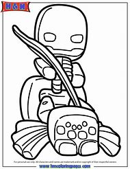 Minecraft Spider Jockey Coloring Pages