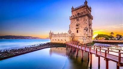 Bridge Tower Portugal Belem Lisbon 1080p Background