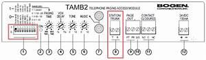 Bogen Tamb2 Overhead Paging System Configuration