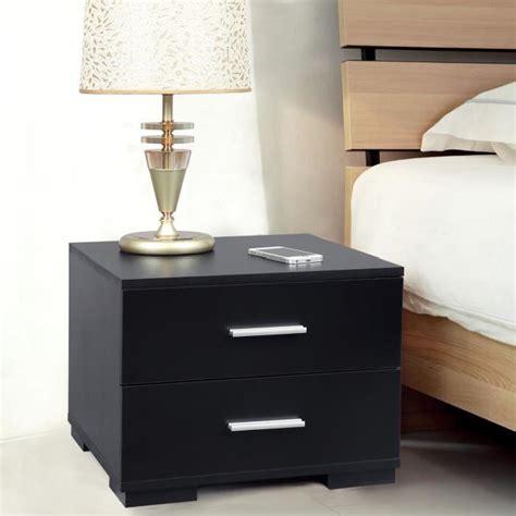 songmics 174 table de chevet mdf table de nuit noir 40 x 35 x 40cm avec 2 tiroirs lbc35b achat