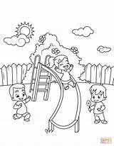 Slide Coloring Down Go Children Pages Printable Ausmalbild Der Rutsche Drawing Dot Paper Books sketch template