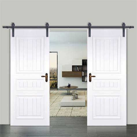 vevor ft modern interior double sliding barn wood door