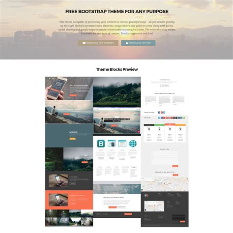 Bootstrap Templates 95 Free Bootstrap Themes Expected To Get In The Top In 2019