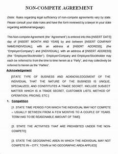 Non compete agreement 7 free pdf doc download for Non compete clause template