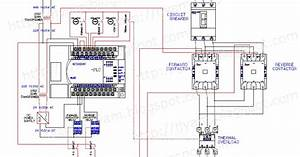 Electrical Wiring Diagram Forward Reverse Motor Control And Power Circuit Using Mitsubishi Plc