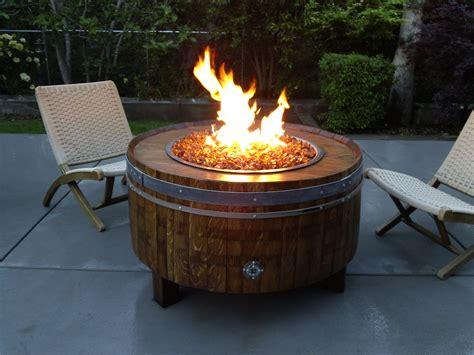 build gas fire table lp gas fire pit dyi shop wine barrel fire pits