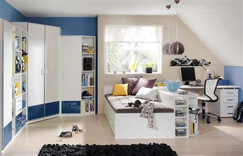 Jugendzimmer Finn Wellemöbel Blau  Weiß  Möbel Letz