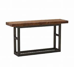 coffee tables with iron legs pottery barn With reclaimed wood and wrought iron coffee table