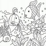 Coloring Fish Tropical Pages Realistic Pdf sketch template