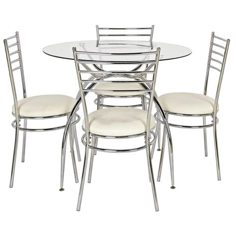 Kitchen Furniture Argos by Buy Home Lusi Glass Dining Table And 4 Chairs At