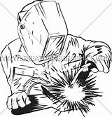 Welder Welding Clipart Drawing Sketch Transparent Printing Shirt Production Ready Getdrawings Line Nicepng Vector sketch template
