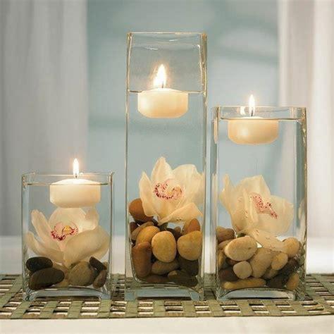 Blumen Hochzeit Dekorationsideenblumen Im Wasser Hochzeit Deko by Tischdekoration Aus Schwimmenden Kerzen Und Kieselsteinen