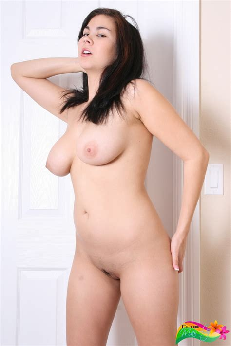 Busty Asian Mai Ly Naked In White Stockings