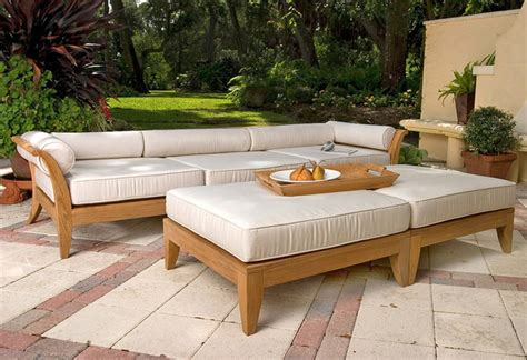 aman dais 5pc teak sofa set asian outdoor lounge sets