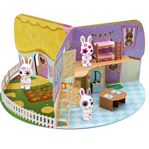 fuzzikins cottontail cottage playmonster