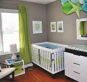 deco chambre bebe garcon bleu et vert visuel 1 With deco chambre garcon bebe