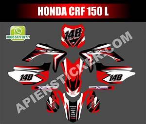 Striping Motor Honda Crf 150l Merah