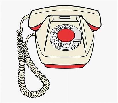 Telephone Phone Clipart Fashioned Retro Cartoon Telecommunication