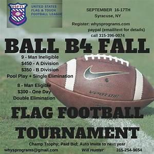 ADULT FLAG FOOTBALL TOURNAMENT | Will Hone Your Skills LLC