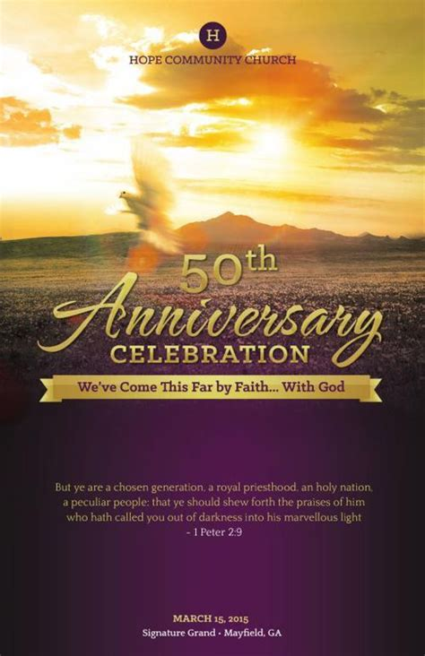 church anniversary service program template program
