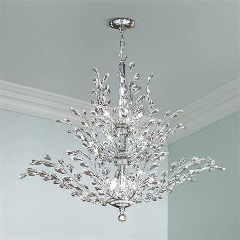 Moder Chandeliers by R Moder Florale Collection Silver 41 Quot Wide