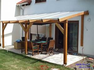 Glued laminated timber decking canopy 3 - Garden House