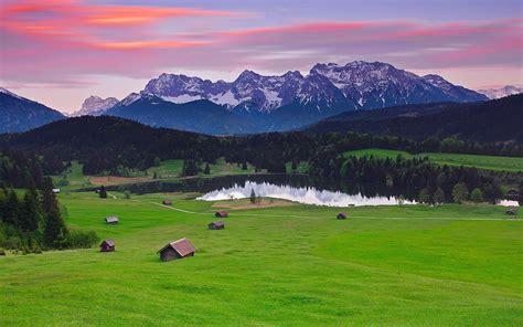 Schönen Urlaub Berge by Deutschland Bayern Landschaft Berge Alpen Wald Gras