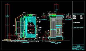 Tube Water Boiler, 450 Psig DWG Block for AutoCAD