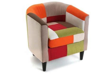 livre de cuisine plancha fauteuil multicolore patchwork fauteuil crapaud pas cher