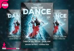 Christmas Poster Template Word Free Winter Dance Party Template Psd Freedownloadpsd Com