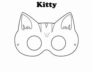 Kitty mask kiddos pinterest halloween coloring for Hello kitty mask template