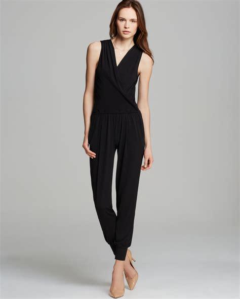 black s jumpsuit t tahari tricia sleeveless jumpsuit in black lyst