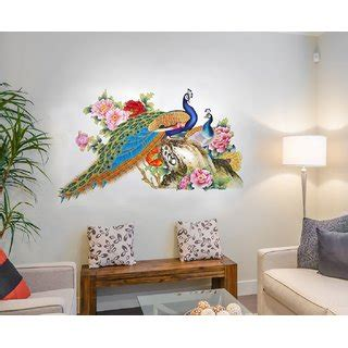 buy home berry wall stickers  living room peacock birds