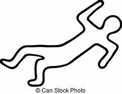 Cartoon Dead Body Outline - ClipArt Best