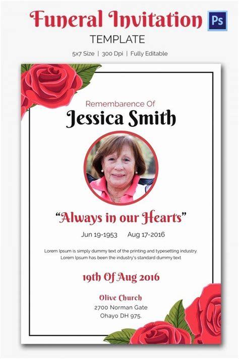 memorial service invitations templates fresh business